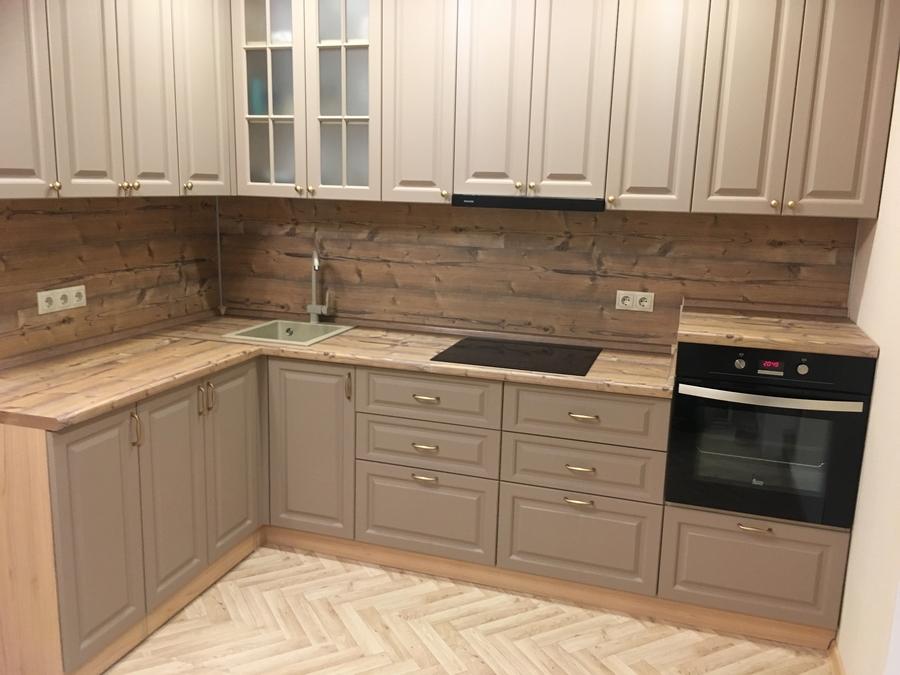 Высокие кухни под потолок-Кухня МДФ в ПВХ «Модель 62»-фото2