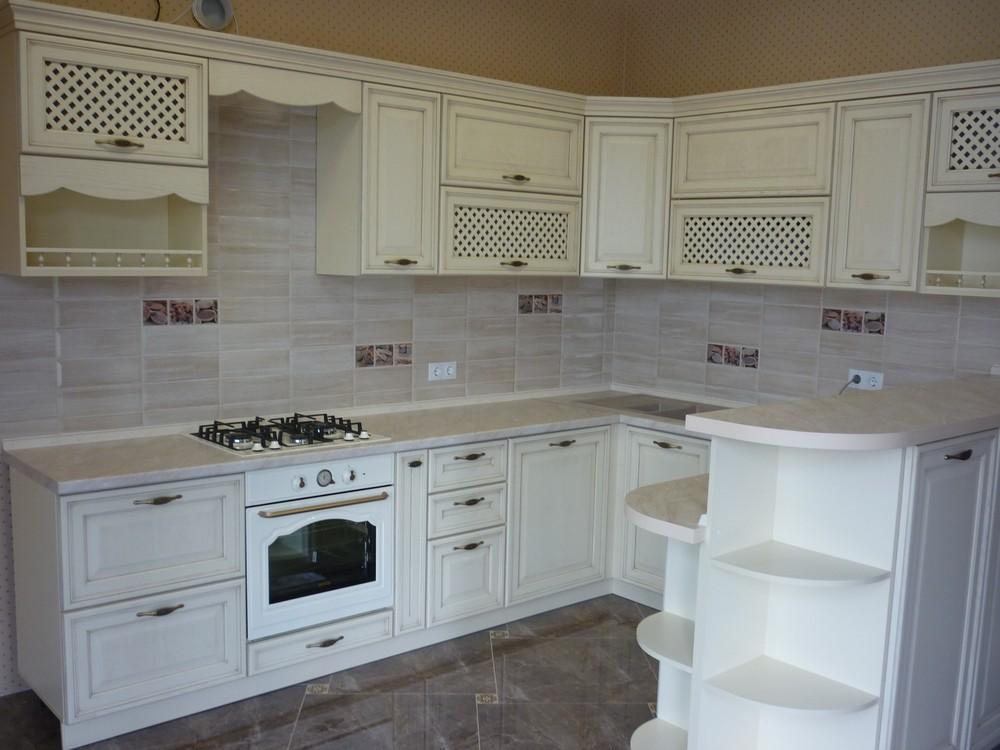 Акриловые кухни-Кухня МДФ в ПВХ «Модель 293»-фото1