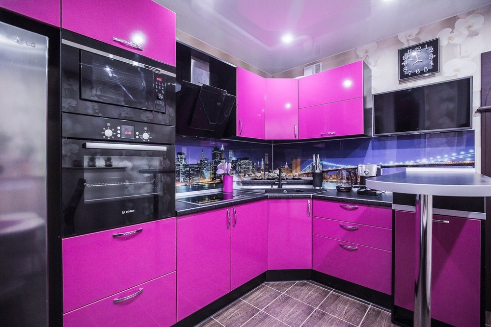 Акриловые кухни-Кухня МДФ в эмали «Модель 115»-фото6
