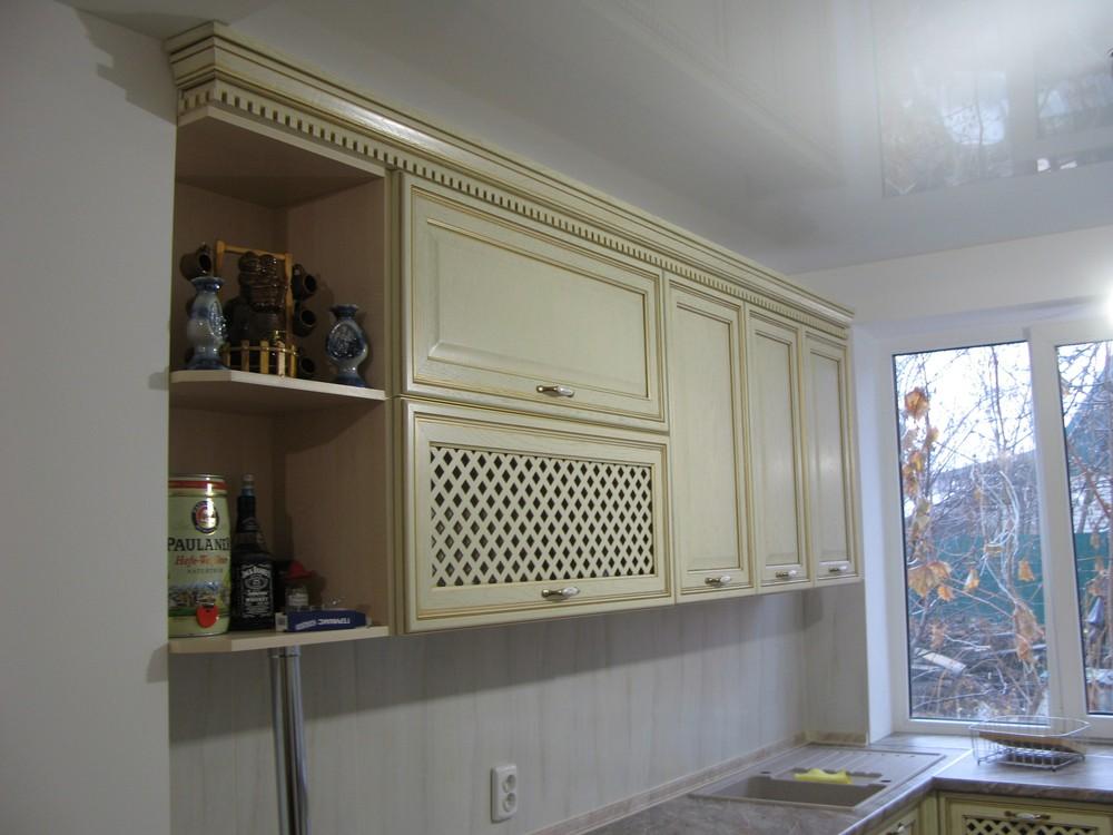 Белый кухонный гарнитур-Кухня МДФ в ПВХ «Модель 273»-фото5