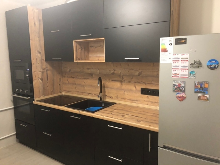 Встроенная кухня-Кухня МДФ в эмали «Модель 436»-фото2