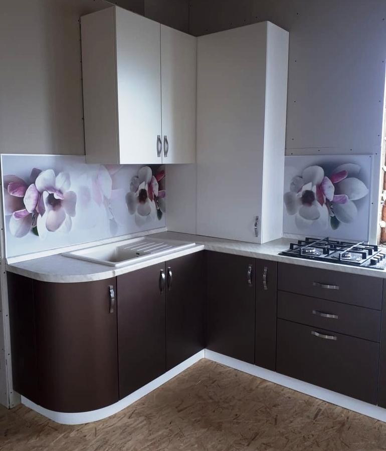 Белый кухонный гарнитур-Кухня из пластика «Модель 392»-фото3
