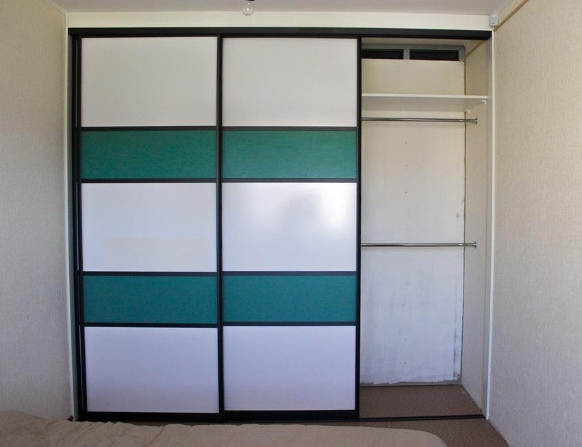 Белые шкафы-купе-Шкаф-купе МДФ «Модель 310»-фото2