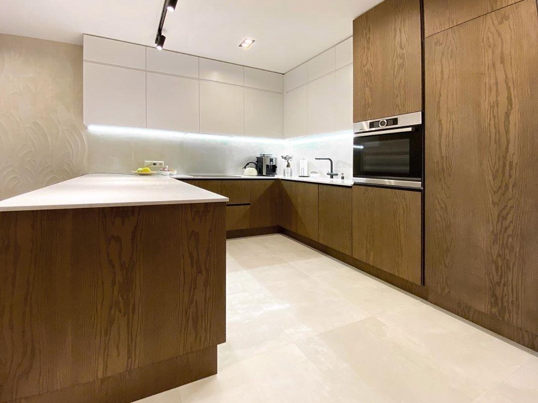 Белый кухонный гарнитур-Кухня МДФ в эмали «Модель 618»-фото2