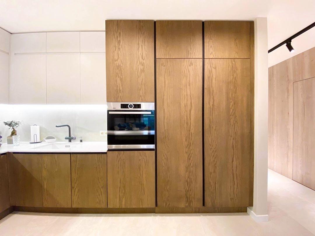 Белый кухонный гарнитур-Кухня МДФ в эмали «Модель 618»-фото4
