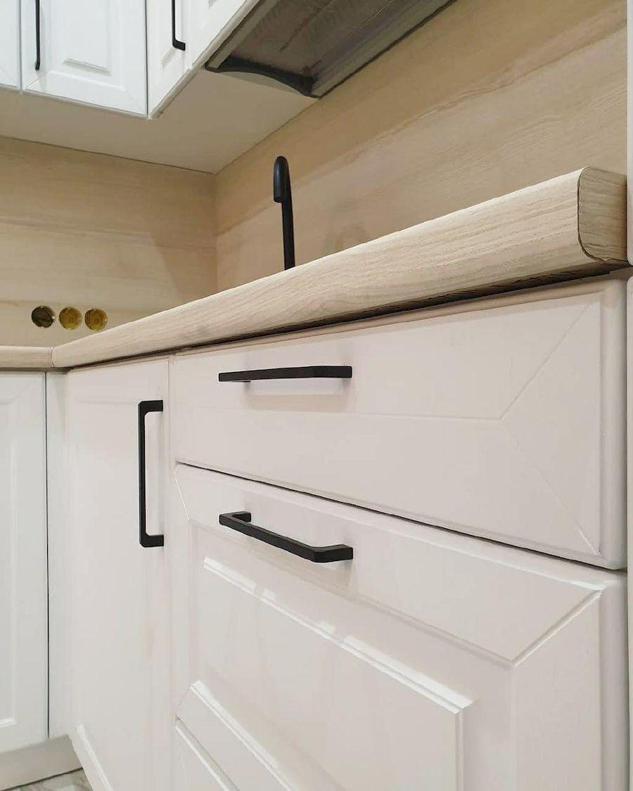 Белый кухонный гарнитур-Кухня МДФ в ПВХ «Модель 634»-фото7