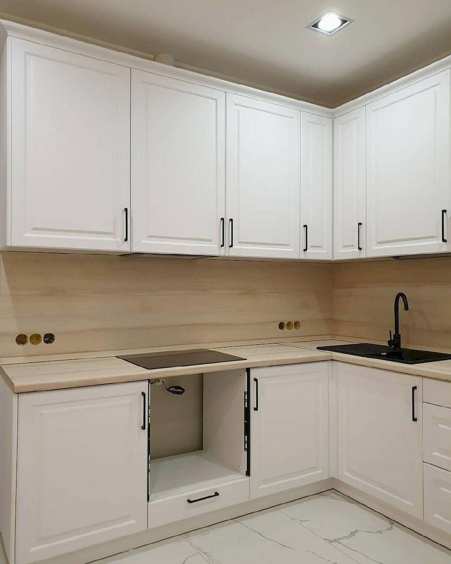 Белый кухонный гарнитур-Кухня МДФ в ПВХ «Модель 634»-фото2