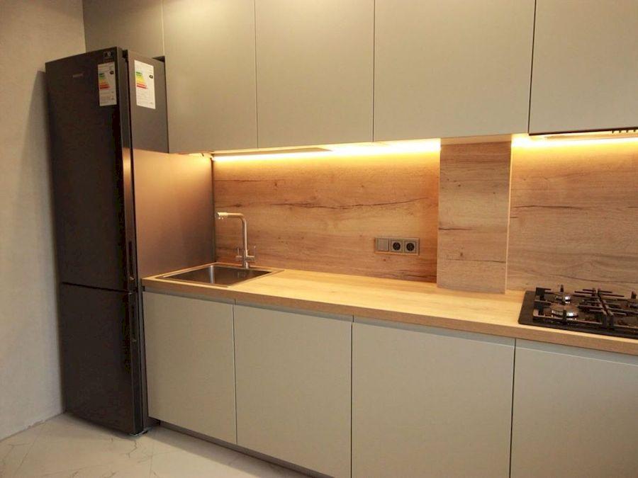 Бежевые кухни-Кухня МДФ в эмали «Модель 661»-фото4