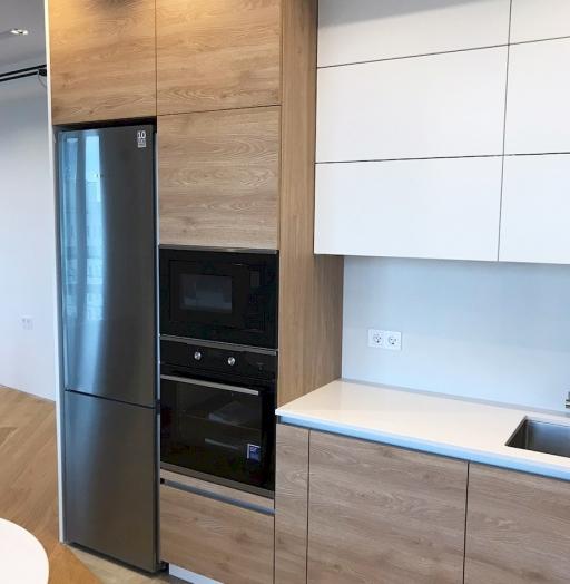 Белый кухонный гарнитур-Кухня из пластика «Модель 595»-фото5