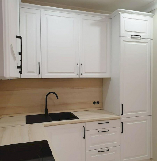 Белый кухонный гарнитур-Кухня МДФ в ПВХ «Модель 634»-фото8
